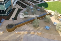 From forming the walls, sourcing the hard to locate epoxy coated rebar, to pouring the Bomanite smooth-troweled, integrally colored concrete, we took pleasure in creating this relaxing, restorative fountain outside of the Clovis Community Medical Center.