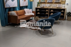 Nickel & Suede chose Bomanite Modena SL to create a polishable concrete overlay in their flagship store and this durable, stain resistant, and low maintenance surface adds stunning aesthetic appeal throughout the space.