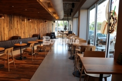 Featured here is Bomanite Modena SL decorative concrete flooring that was expertly installed by our associate, Musselman & Hall Contractors, to complement the beauty and warmth that emanates from the wood tones, copper accents, and natural lighting throughout this Kansas City Starbucks.