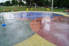 Bomanite Revealed concrete at a Water Park shows decorative concrete to be both durable and beautiful.