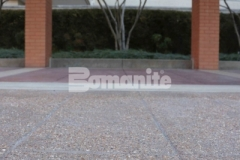 Musselman & Hall Contractors updated and replaced the aging pavement at the front entrance to the Residence Condominiums by installing Bomanite Bomacron English Sidewalk Slate imprinted concrete with a Bomanite Sandscape Texture Exposed Aggregate finish, adding distinct design detail while providing a durable finish.