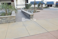 Sandscape Texture decorative concrete by Bomanite was installed here with beautiful textural elements and cohesive design features to create a hardscape surface that helps to maintain consistency across the campus of this church.