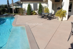 Bomanite Sanscape Texture concrete for residential pool deck a non-slip, durable, and beautiful by Heritage Bomanite.