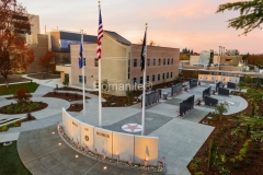 Heritage Bomanite skillfully installed the beautiful Bomanite Sandscape Texture decorative concrete that makes up the walkway and plaza areas at the Veterans Walk of Honor Memorial, creating a hardscape that unifies the overall design.