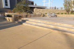 Heritage Bomanite expertly installed Bomanite Sandscape Texture concrete here to create an eye-catching courtyard area at Northside Christian Church that provides durability and adds a cohesive look that will establish balance between the various exterior spaces.