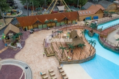 Harrington Bomanite earned the Bomanite Outstanding Project Grand Award as well as the Best Imprint Systems Gold Award for their meticulous, skillful installation of this stamped concrete pool decking at Castaway Island in Canobie Lake Park that included installation a drainage system that satisfied local and state environmental concerns.