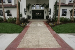 Bomanite Bomacron Textured and Pattern Imprinted Concrete at the Dominian Courtyard Apartments is beautiful and inviting by Heritage Bomanite.