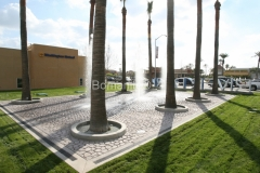 Bomanite Patterned Imprinted Concrete at Riverpark Fountain with waterproofiing by Heritage Bomanite.