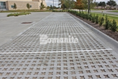 This parking lot features Bomanite Grasscrete that was installed here to provide a decrease in the overall impervious percentage and allow for proper stormwater drainage on the site.