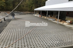 Grasscrete by Bomanite is a continuously reinforced, cast-in-place, pervious concrete solution that was expertly installed at this residence by our associate, Premier Concrete Construction, to reduce site runoff while accentuating the natural design aesthetic of the surrounding landscape.