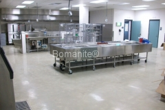 Bomanite Custom Polishing Belcolore concrete at Cheshire County Jail Kitchen