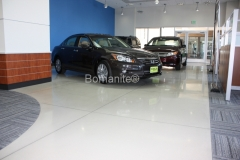 Bomanite Custom Polishing Modena concrete at Markley Honda Dealership