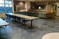 Bomanite Custom Polishing Patene Teres at Clovis East High School Cafeteria by Heritage Bomanite.