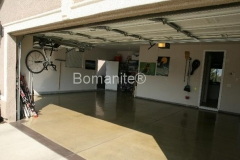 Bomanite Custom Polishing Patene Teres at a Fresno garage floor by Heritage Bomanite.