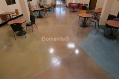 Bomanite Custom Polishing Patene Teres at the Institute of Technology in Clovis by Heritage Bomanite.