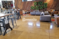 This durable flooring surface was created using the Patene Teres custom polishing system by Bomanite and was chosen to add exceptional resistance to slipping, abrasion, and impact.