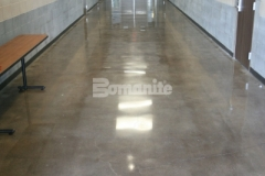 Heritage Bomanite used the Bomanite Patene Teres Custom Polishing System to create a decorative concrete flooring surface at the Fresno Police Department that adds an elegant vibrancy to the interior spaces.