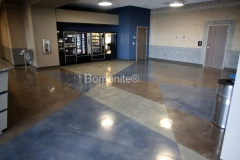 Bomanite Custom Polishing Patene Teres at the Regional Police Training Facility in Fresno by Heritage Bomanite.