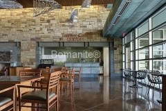 Bomanite Custom Polishing Renaissance concrete at The Summit At Central Park in Grand Prairie.