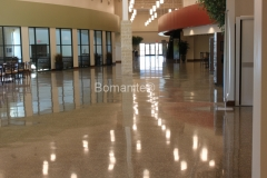 Bomanite Custom Polishing Renaissance concrete Integral Color Floor.