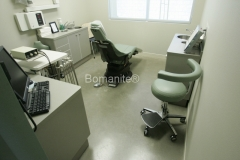 Bomanite Custom Polishing VitraFlor concrete at Nishimine Dental Office in Fresno by Heritage Bomanite.