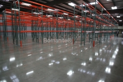 Bomanite Custom Polishing VitraFlor concrete at Constar Supply Industrial Warehouse in Clovis by Heritage Bomanite.