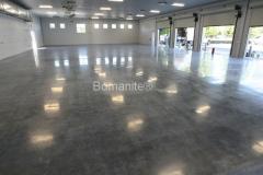 Bomanite Custom Polishing VitraFlor concrete at American Ambulance Tulare in Fresno by Heritage Bomanite.
