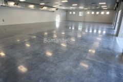 Bomanite Custom Polishing VitraFlor concrete at American Ambulance Tulare in Fresno by Heritage Bomanite.