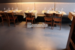 Our colleague, Musselman & Hall Contractors, installed Bomanite Micro-Top with Bomanite Shale Gray tint and applied the finish coat with steel trowels, adding character that mimics the look of a hard-troweled concrete floor, and creating this transformative flooring surface inside the Elmwood Restaurant.