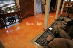Bomanite Toppings Systems Mico-Top concrete at a residence by Heritage Bomanite.
