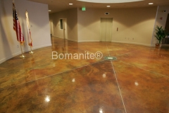 Bomanite Toppings Systems Patene Artectura concrete at Dinuba Vocational Center in Dinuba, CA by Heritage Bomanite.