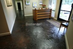 Bomanite Toppings Systems Thin-Set concrete at Ahart Insurance by Heritage Bomanite.