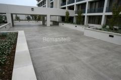Bomanite Toppings Systems Thin-Set concrete at Portola Plaza Hotel Monterey, CA by Heritage Bomanite.