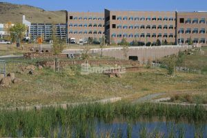 Grasscrete Partially Filled System pervious concrete in Golden, CO installed at NREL Central Arroyo Detention Pond is beautiful and environmentally friendly.
